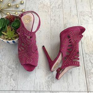 Vince Camuto Cassi Pink slingback suede sandals 10